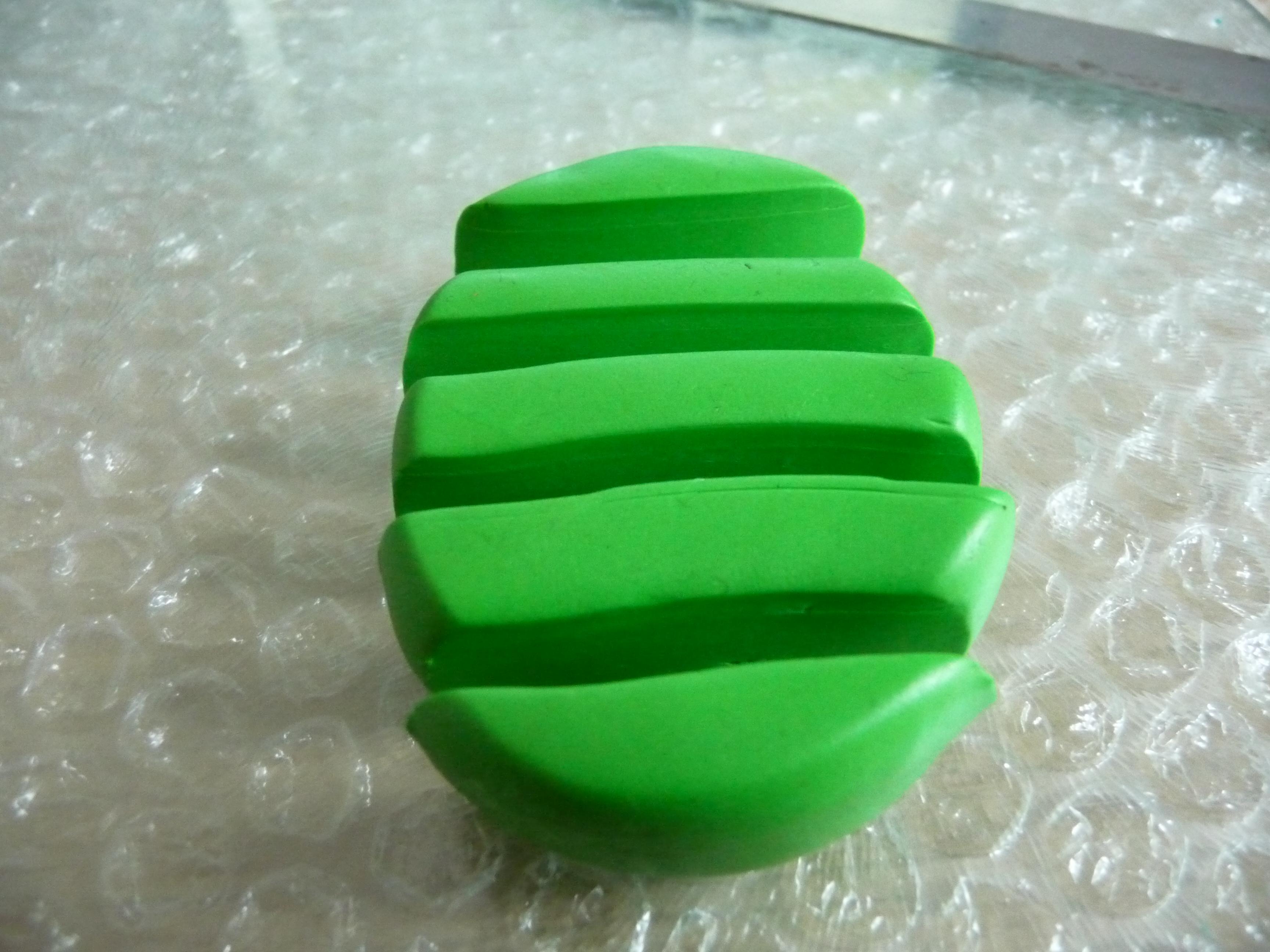Simple polymer clay leaf cane tutorial georgia p designs for Simple clay designs